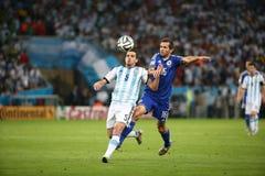 La Argentina y Bosnia fútbol de 2014 mundiales Fotos de archivo