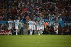 La Argentina y Bosnia fútbol de 2014 mundiales Foto de archivo