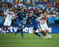 La Argentina y Bosnia fútbol de 2014 mundiales Imágenes de archivo libres de regalías