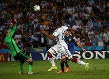 La Argentina y Bosnia fútbol de 2014 mundiales Imagen de archivo