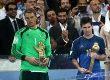 La Argentina y Bosnia fútbol de 2014 mundiales Fotografía de archivo libre de regalías