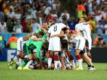 La Argentina y Bosnia fútbol de 2014 mundiales Fotografía de archivo