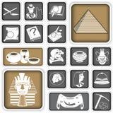 La arqueología ajustó iconos libre illustration