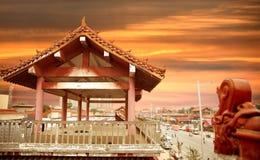 La arquitectura antigua de China Imagen de archivo libre de regalías