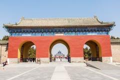 la arquitectura antigua más famosa del mundo del Templo del Cielo en Pekín, China Fotografía de archivo libre de regalías
