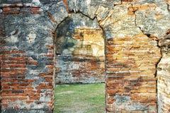 La arquitectura arquea el período de Ayutthaya La ciudad vieja de Tailandia fotos de archivo