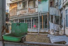 La arquitectura colorida de Tbilis fotos de archivo libres de regalías