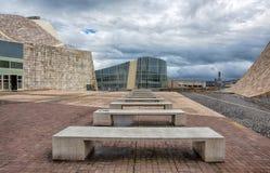 La arquitectura contemporánea, museo, ciudad de la cultura de Galicia, cultura de Galicia de Cidade DA, diseñó por Peter Eisenman imagen de archivo