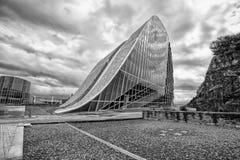 La arquitectura contemporánea, museo, ciudad de la cultura de Galicia, cultura de Galicia de Cidade DA, diseñó por Peter Eisenman Imagenes de archivo
