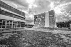 La arquitectura contemporánea, museo, ciudad de la cultura de Galicia, cultura de Galicia de Cidade DA, diseñó por Peter Eisenman Fotos de archivo libres de regalías