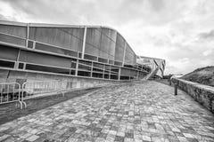 La arquitectura contemporánea, museo, ciudad de la cultura de Galicia, cultura de Galicia de Cidade DA, diseñó por Peter Eisenman Foto de archivo
