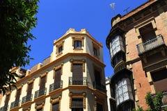 La arquitectura de las casas viejas en el rdoba del ³ de CÃ, España imagen de archivo libre de regalías