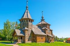 La arquitectura de madera en Suzdal Imagenes de archivo