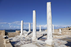 La arquitectura del período romano en el parque nacional Caesarea Imagen de archivo