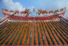 La arquitectura del tejado del dragón de China foto de archivo libre de regalías