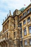 La arquitectura detalla el ministerio de la industria y del comercio, Praga fotografía de archivo libre de regalías