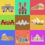 La arquitectura más famosa del mundo, iglesias, edificios imagen de archivo libre de regalías