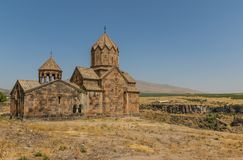 La arquitectura maravillosa del monasterio de Saghmosavan, Armenia foto de archivo libre de regalías