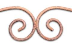 La arquitectura marrón torcida forjó el elemento aislado de la cerca en el jardín aislante Trayectoria de recortes incluida Fotografía de archivo