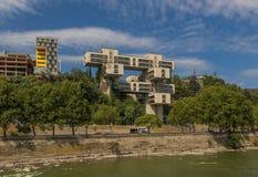 La arquitectura soviética de Tbilis fotos de archivo