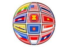 LA Asociación de Naciones del c@sureste Asiático Imagen de archivo