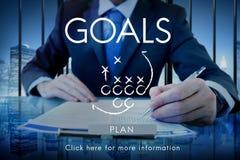 La aspiración del objetivo de las metas cree concepto de la blanco de la inspiración imágenes de archivo libres de regalías