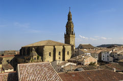 La Asuncion church Briones, La Rioja. Spain stock photo