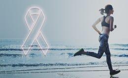 La atención sanitaria de la esperanza del cáncer de pecho cree concepto Imagen de archivo libre de regalías