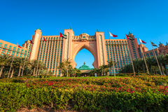 La Atlántida el hotel de la palma en Dubai, UAE Imagen de archivo libre de regalías