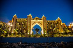 La Atlántida, el hotel de la palma en Dubai, United Arab Emirates Foto de archivo