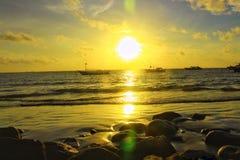 la atmósfera de la puesta del sol Fotografía de archivo