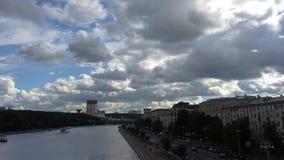 La atmósfera del río de Moscú metrajes