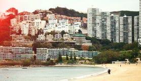 La atmósfera pacífica de la playa Imágenes de archivo libres de regalías