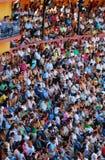 La audiencia del área de la tauromaquia en España Imagen de archivo