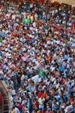 La audiencia del área de la tauromaquia en España Foto de archivo libre de regalías