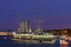 La aurora del crucero, St Petersburg Foto de archivo