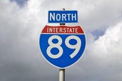 La autopista del norte 89 firma adentro New Hampshire Imagen de archivo libre de regalías