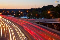 La autopista sin peaje Imagen de archivo