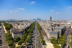 La avenida Charles de Gaulle imágenes de archivo libres de regalías