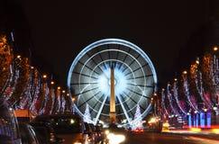 La avenida de Champs-Elysees fotografía de archivo