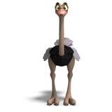 La avestruz linda de Toon da tanto la diversión Fotografía de archivo