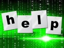 La ayuda del consejo representa la solución que ayuda y que ayuda Foto de archivo libre de regalías