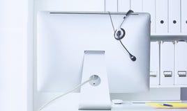 La ayuda, el centro de atención telefónica y el servicio de atención al cliente de comunicación ayudan al de fotografía de archivo