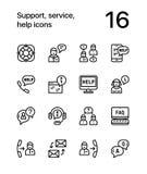 La ayuda, servicio, ayuda a la línea simple iconos para el web y el paquete móvil 1 del diseño ilustración del vector