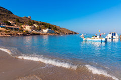 La Azohia beach Murcia in Mediterranean Spain Royalty Free Stock Images