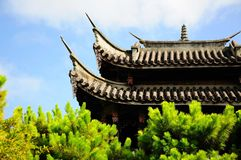 La azotea china de la configuración Imagen de archivo libre de regalías