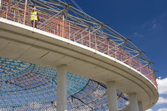 La bóveda de la arena deportiva de interior en Vitoria-Gasteiz Imagen de archivo libre de regalías