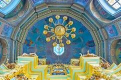 La bóveda de la iglesia del icono de Smolensk de la madre de dios, St Sergius Foto de archivo libre de regalías