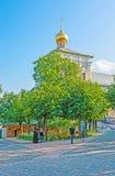 La bóveda de la iglesia del refectorio en St Sergius Lavra Foto de archivo