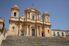 La bóveda de Noto sicilia Foto de archivo libre de regalías
